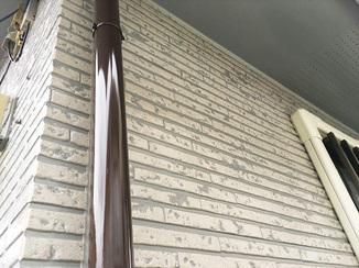 外壁・屋根リフォーム 柄を生かし、艶のある仕上がりになった外壁塗装
