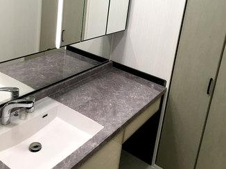 洗面リフォーム 高級感のあるこだわりの洗面台