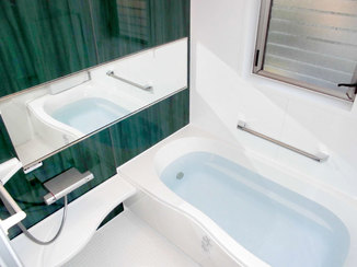 バスルームリフォーム 清掃性が高くお手入れがしやすくなった浴室