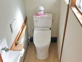 トイレリフォーム 手を伸ばさず洗える手洗い器のついたトイレ