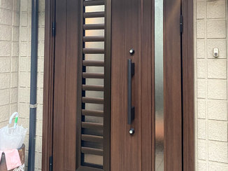エクステリアリフォーム 扉を閉じたまま風を通せる便利な玄関ドア